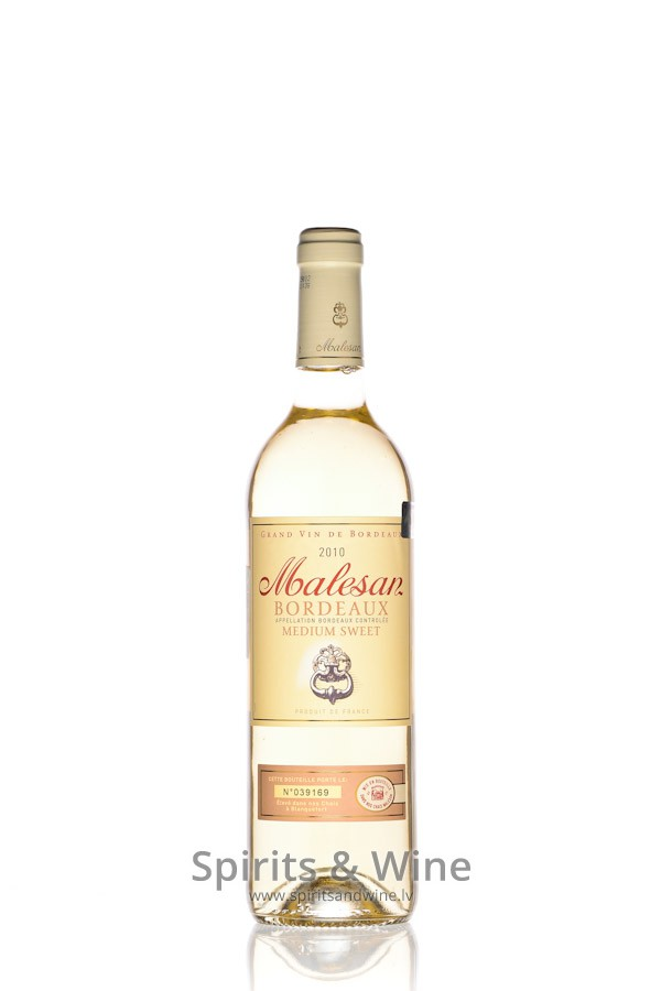 Malesan Medium Sweet White Wine Spirits Wine